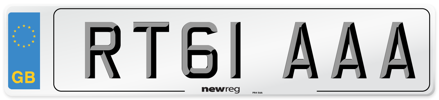 RT61 AAA Number Plate from New Reg