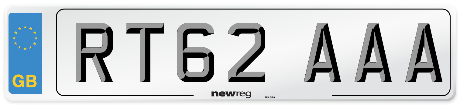 RT62 AAA Number Plate from New Reg