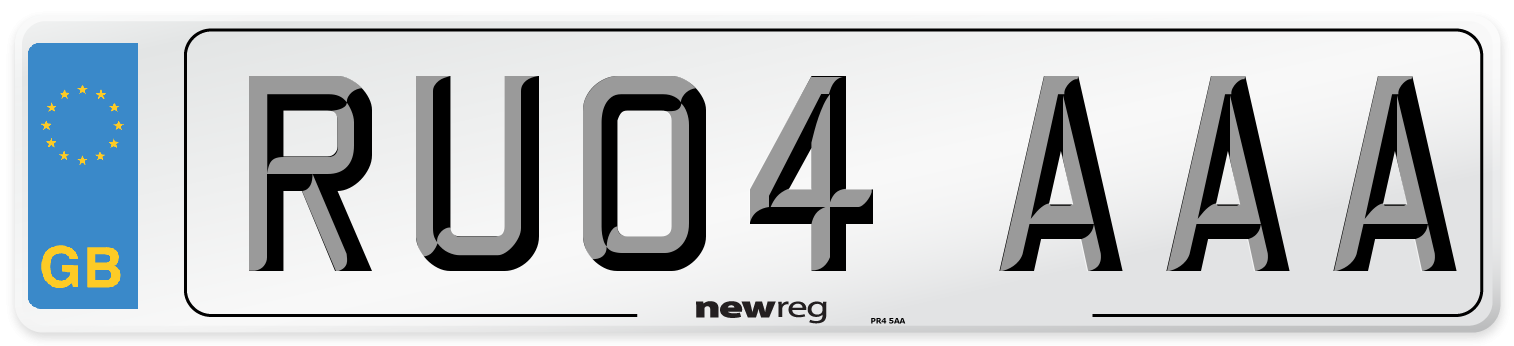 RU04 AAA Number Plate from New Reg