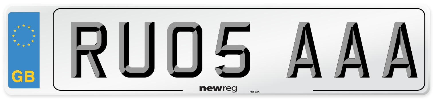 RU05 AAA Number Plate from New Reg