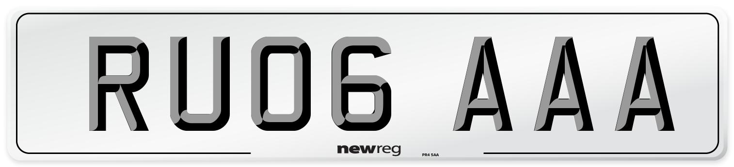 RU06 AAA Number Plate from New Reg