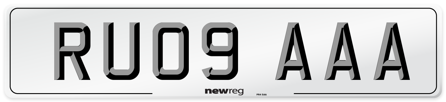 RU09 AAA Number Plate from New Reg