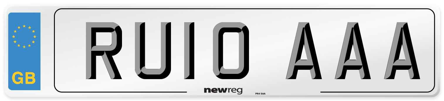 RU10 AAA Number Plate from New Reg