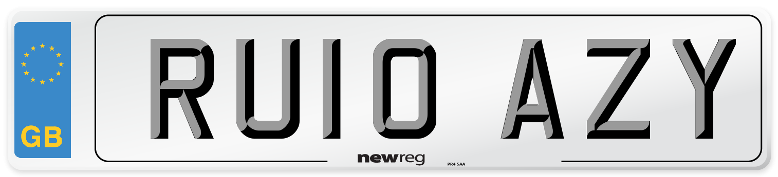 RU10 AZY Number Plate from New Reg