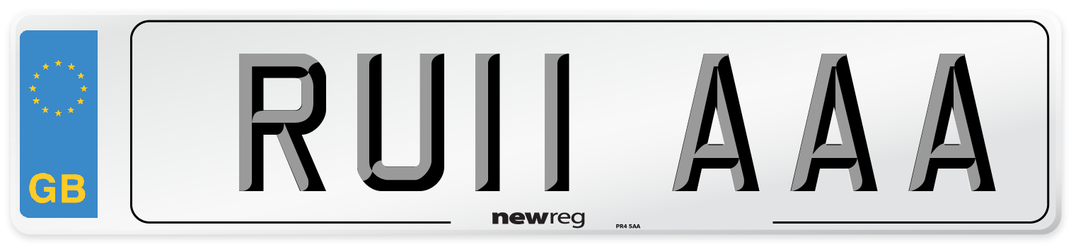 RU11 AAA Number Plate from New Reg