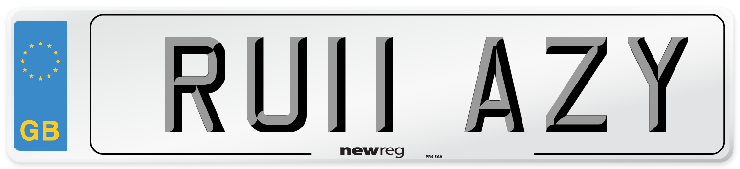 RU11 AZY Number Plate from New Reg