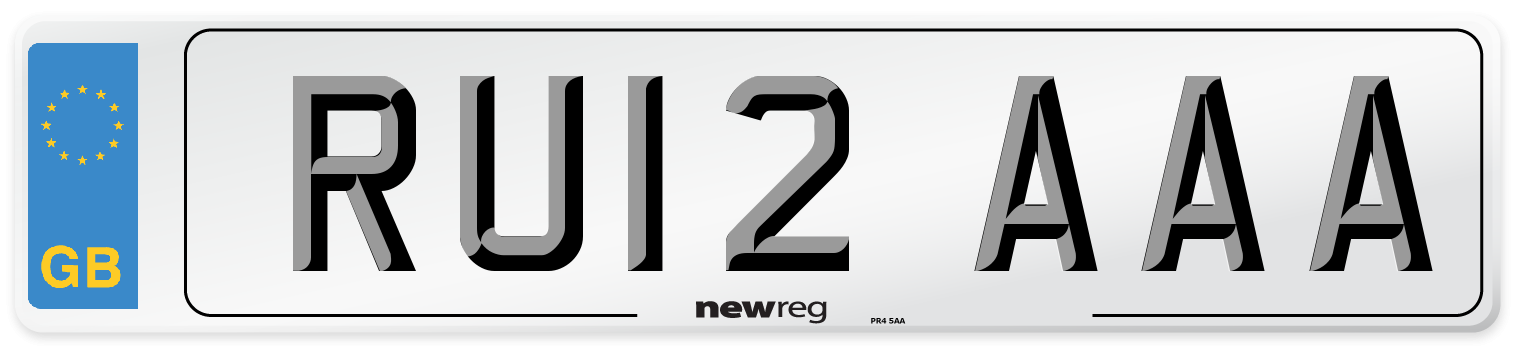 RU12 AAA Number Plate from New Reg