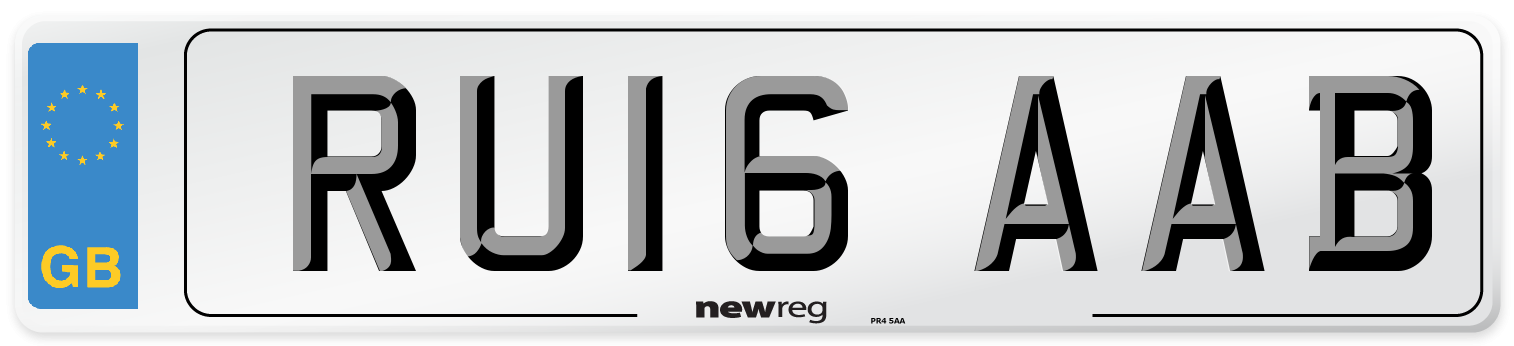 RU16 AAB Number Plate from New Reg