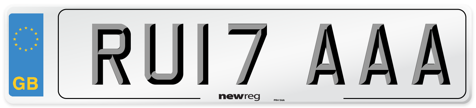 RU17 AAA Number Plate from New Reg