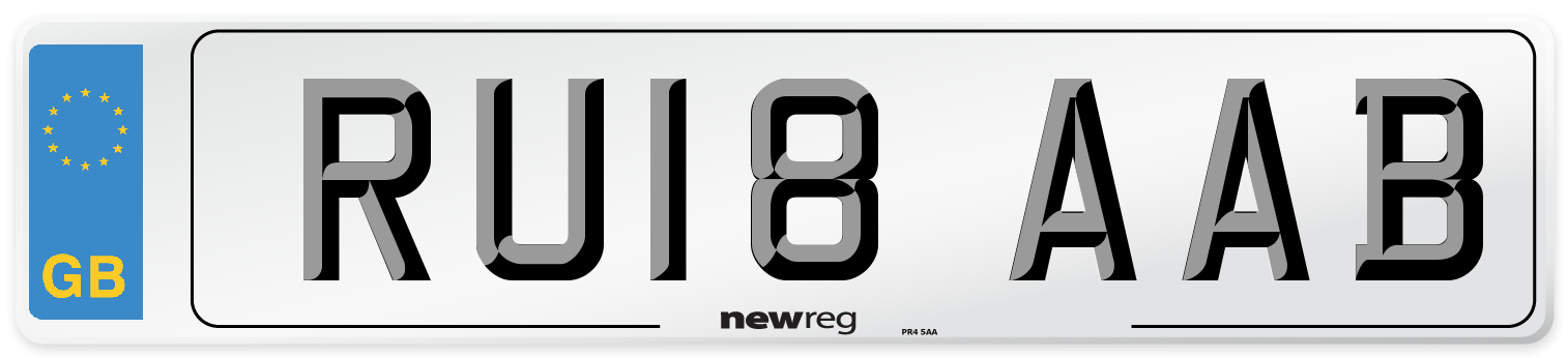 RU18 AAB Number Plate from New Reg