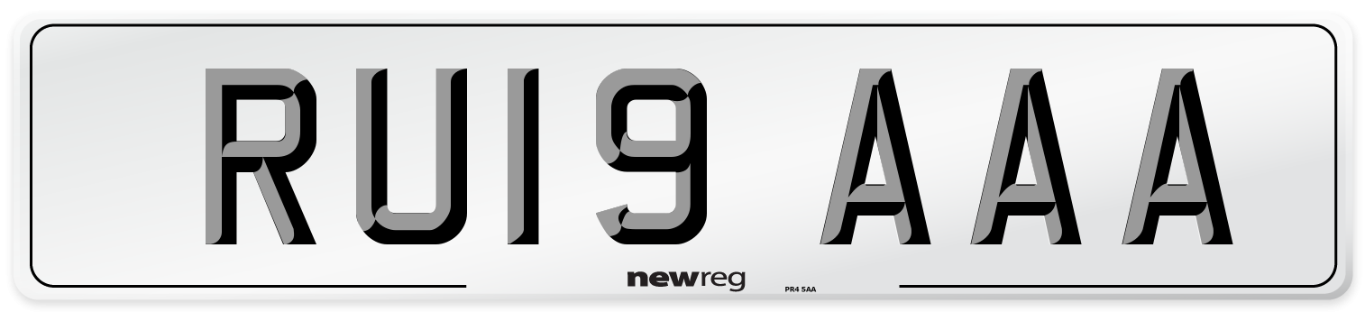 RU19 AAA Number Plate from New Reg