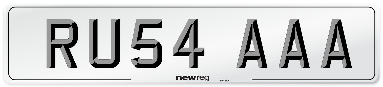 RU54 AAA Number Plate from New Reg