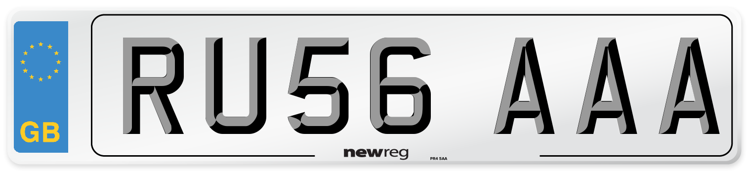 RU56 AAA Number Plate from New Reg