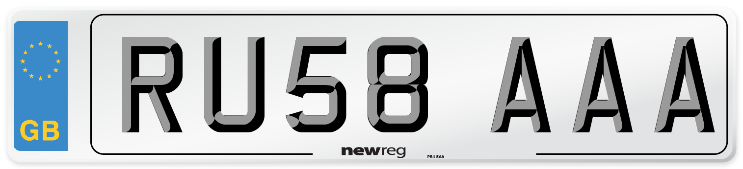 RU58 AAA Number Plate from New Reg