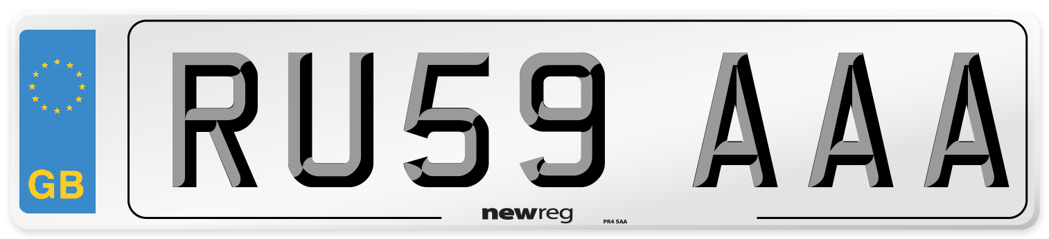 RU59 AAA Number Plate from New Reg