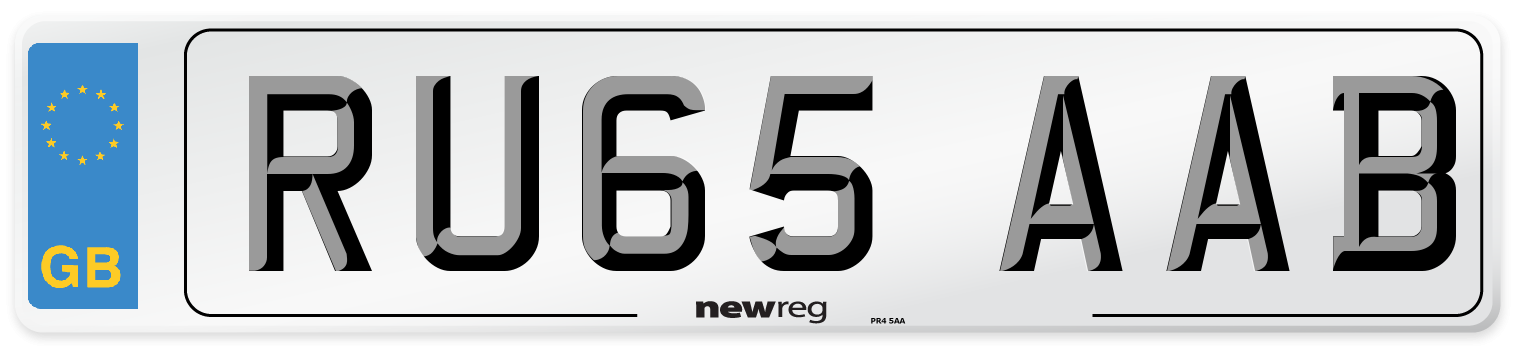 RU65 AAB Number Plate from New Reg