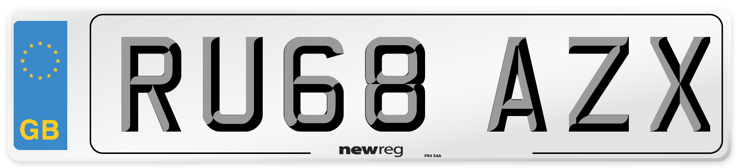 RU68 AZX Number Plate from New Reg