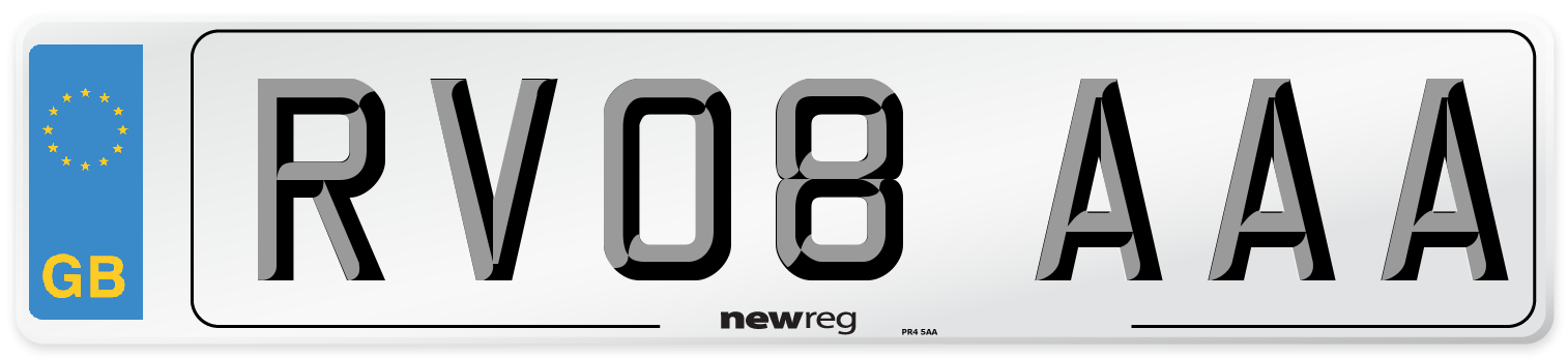RV08 AAA Number Plate from New Reg