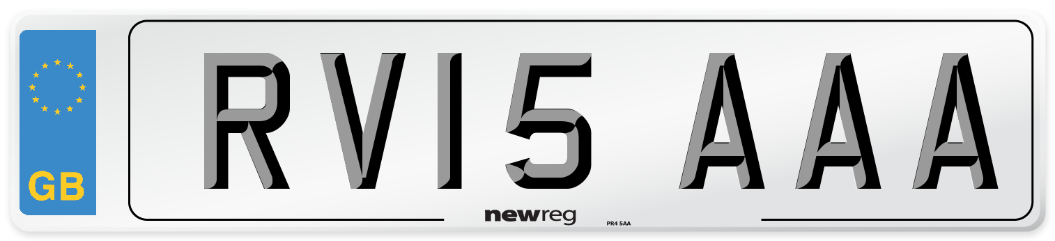 RV15 AAA Number Plate from New Reg