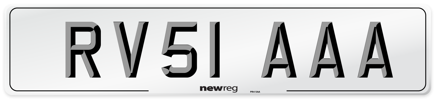 RV51 AAA Number Plate from New Reg