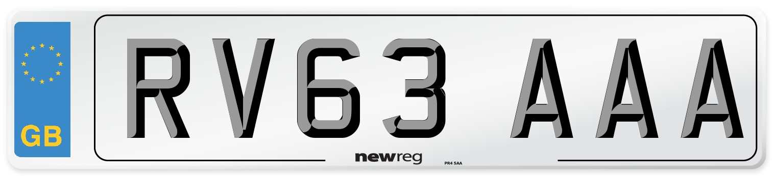 RV63 AAA Number Plate from New Reg
