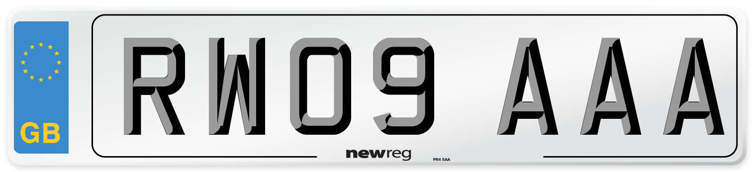 RW09 AAA Number Plate from New Reg