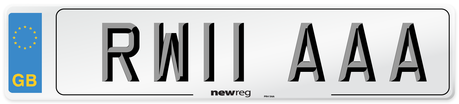 RW11 AAA Number Plate from New Reg