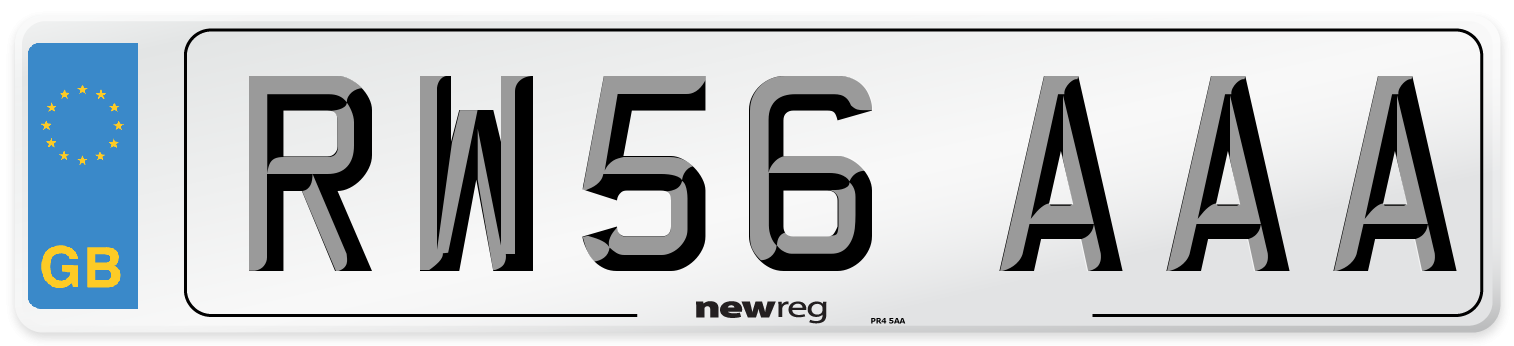 RW56 AAA Number Plate from New Reg