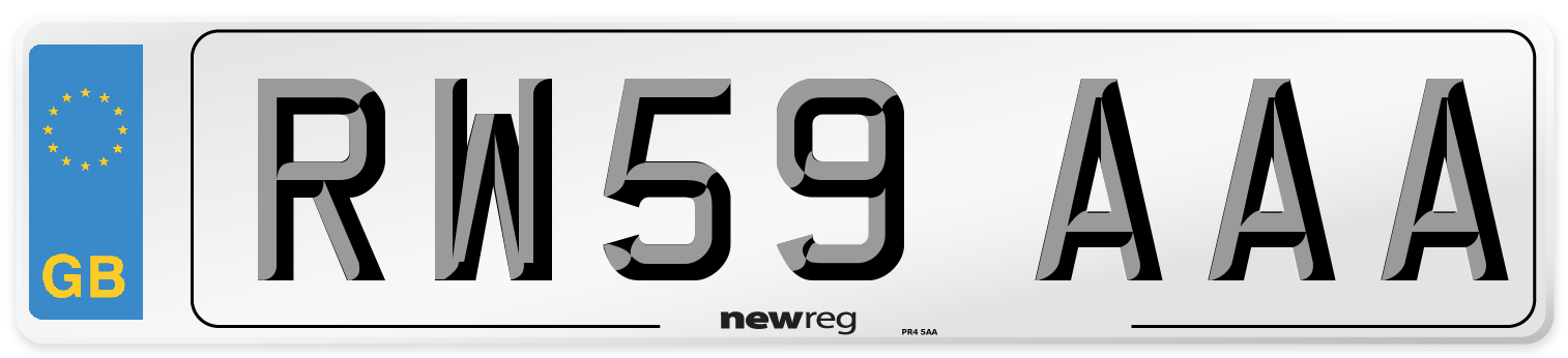 RW59 AAA Number Plate from New Reg