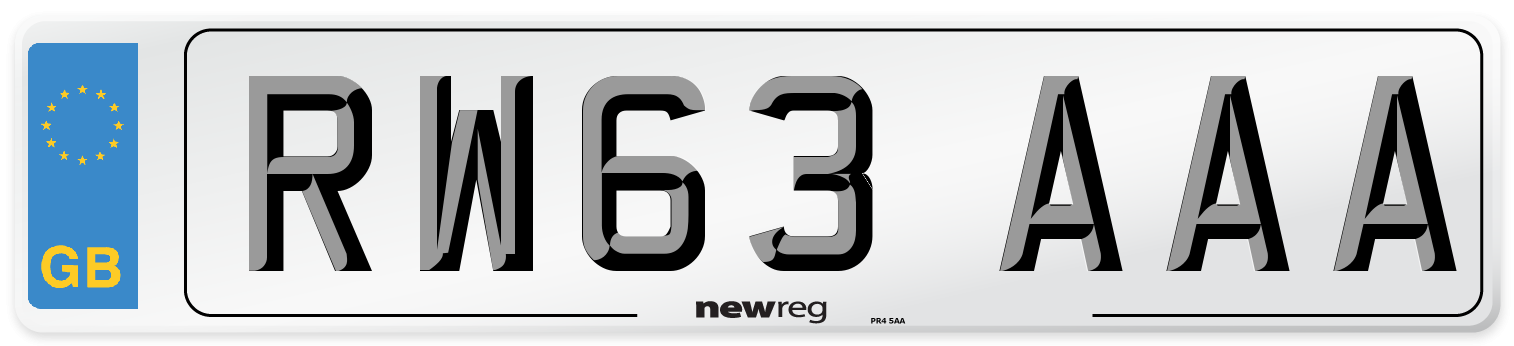 RW63 AAA Number Plate from New Reg