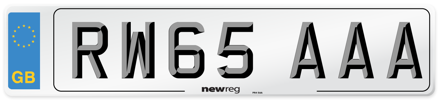 RW65 AAA Number Plate from New Reg