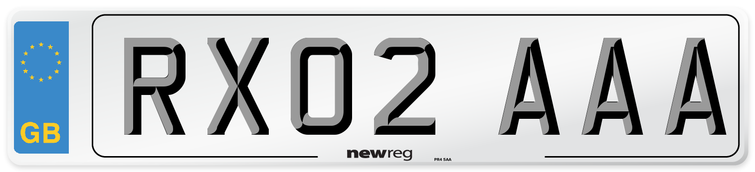 RX02 AAA Number Plate from New Reg