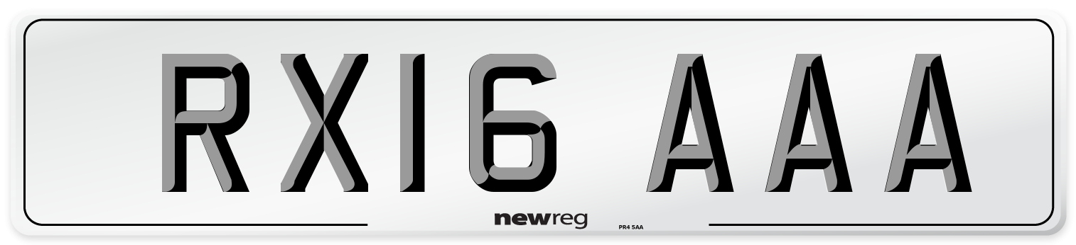 RX16 AAA Number Plate from New Reg