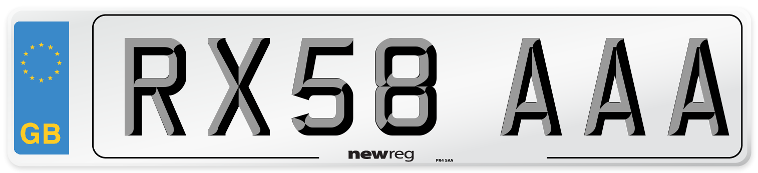 RX58 AAA Number Plate from New Reg