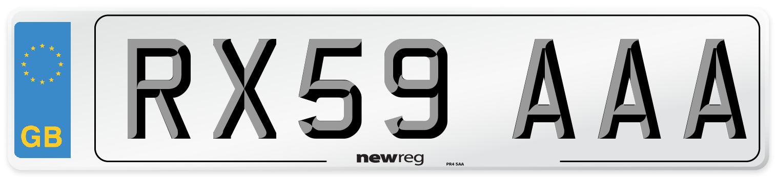RX59 AAA Number Plate from New Reg