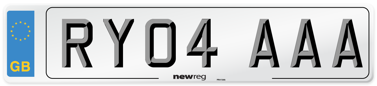 RY04 AAA Number Plate from New Reg