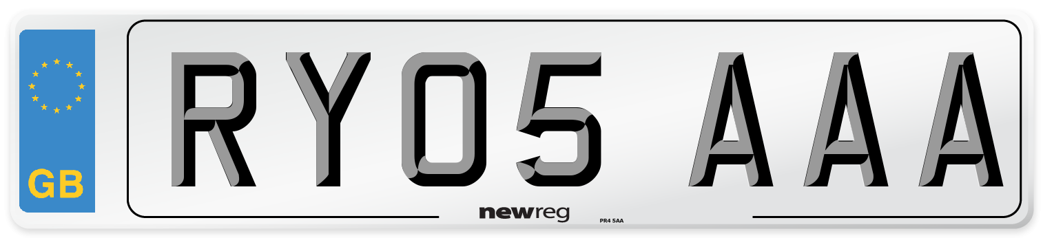 RY05 AAA Number Plate from New Reg