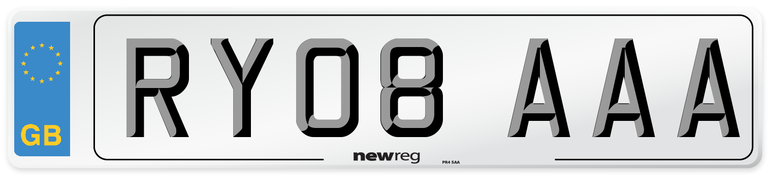 RY08 AAA Number Plate from New Reg