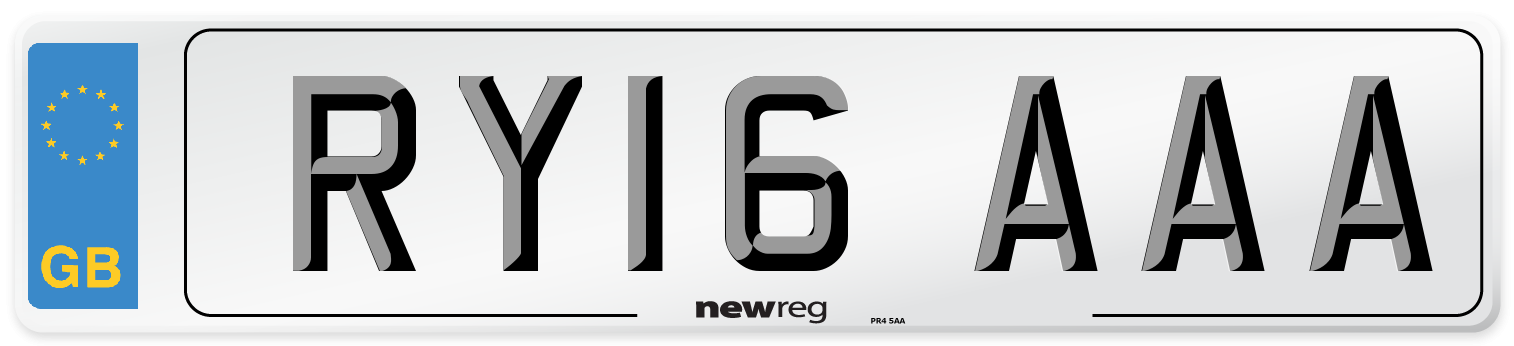 RY16 AAA Number Plate from New Reg
