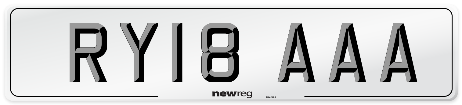 RY18 AAA Number Plate from New Reg