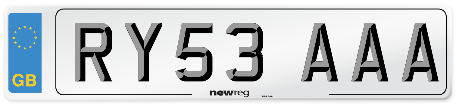 RY53 AAA Number Plate from New Reg