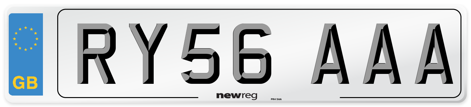 RY56 AAA Number Plate from New Reg