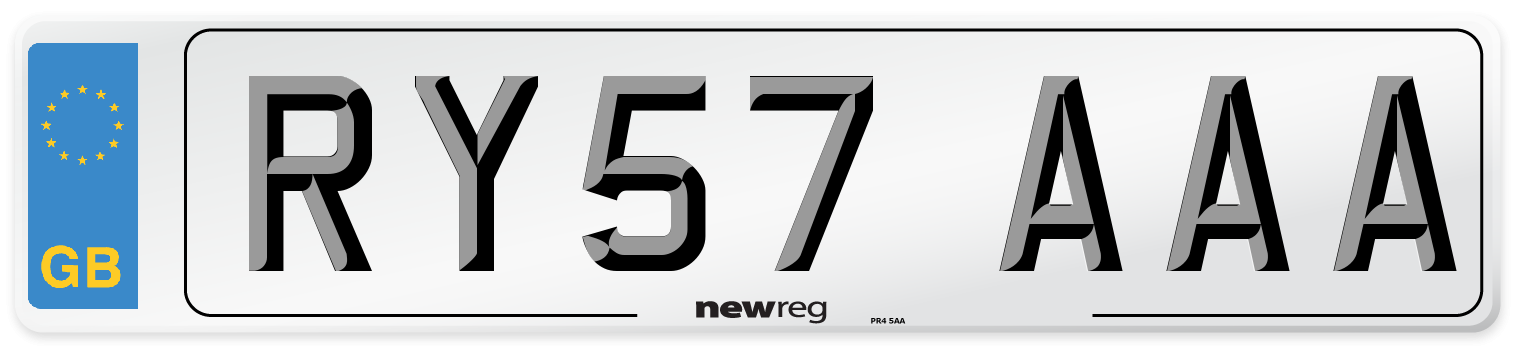 RY57 AAA Number Plate from New Reg