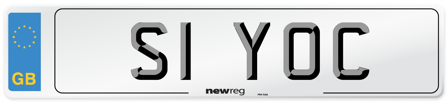 S1 YOC Number Plate from New Reg