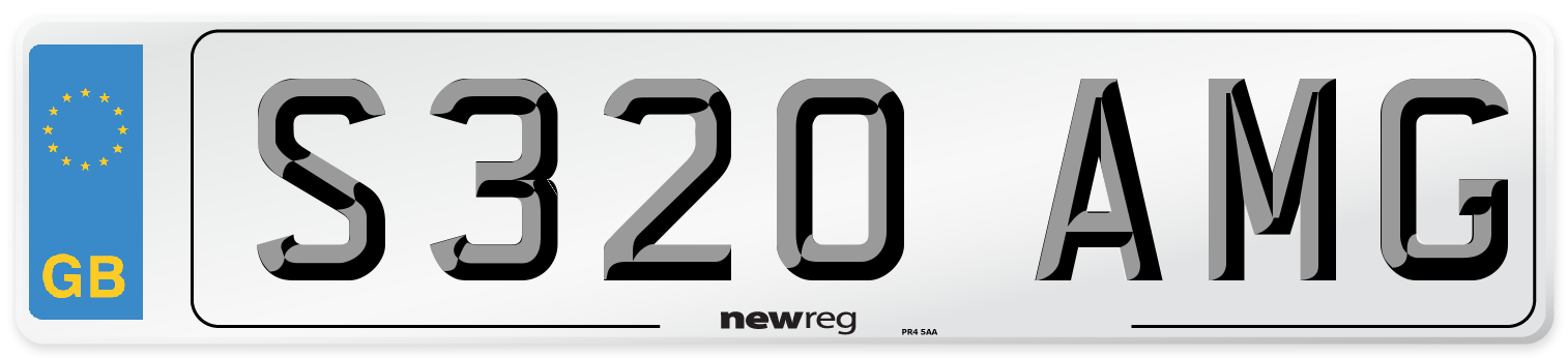 S320 AMG Number Plate from New Reg