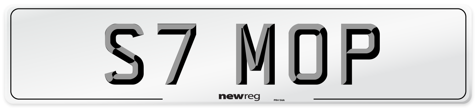 S7 MOP Number Plate from New Reg