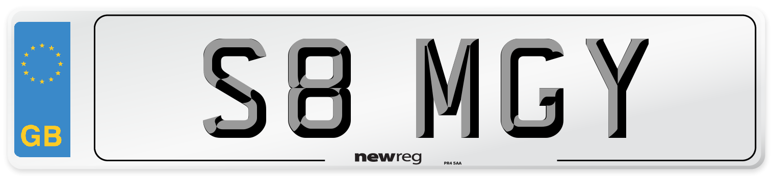 S8 MGY Number Plate from New Reg