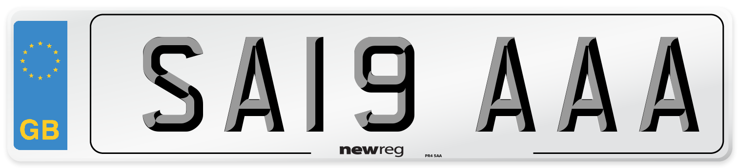 SA19 AAA Number Plate from New Reg