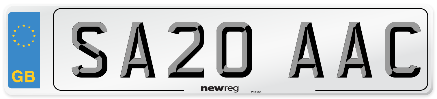 SA20 AAC Number Plate from New Reg