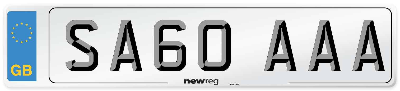 SA60 AAA Number Plate from New Reg
